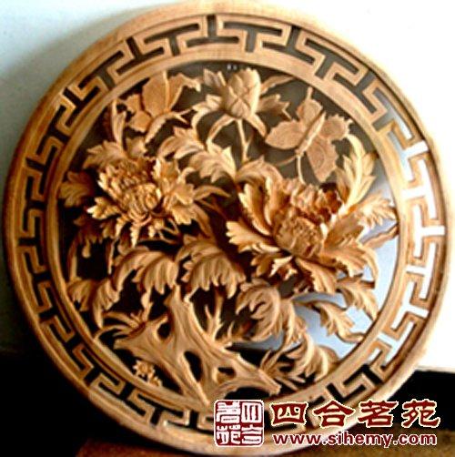 木雕,大都采用具象的表现手法