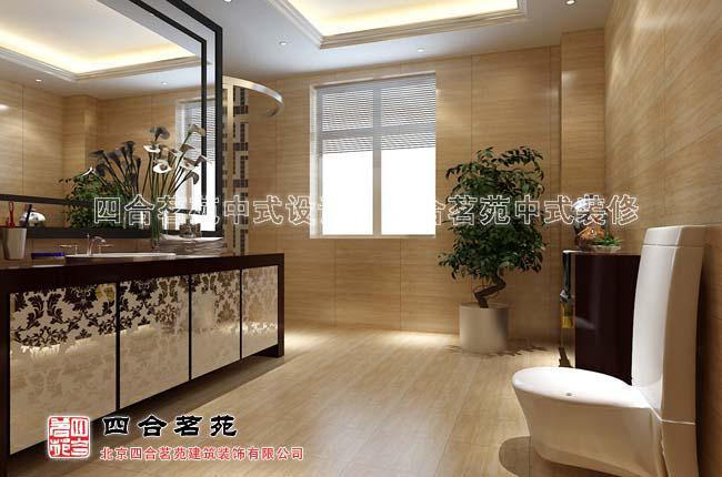 简约中式酒店装修风格卫生间实景图