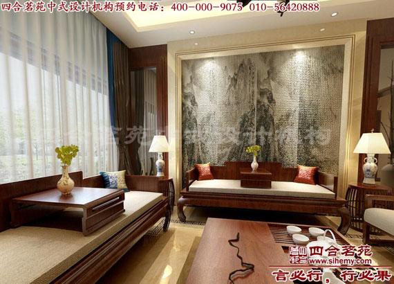 中式风格的别墅设计装修茶室效果图