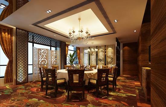 中式酒店设计豪华包间效果图高清图片