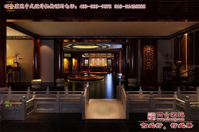 中式展厅过道设计效果图高清图片