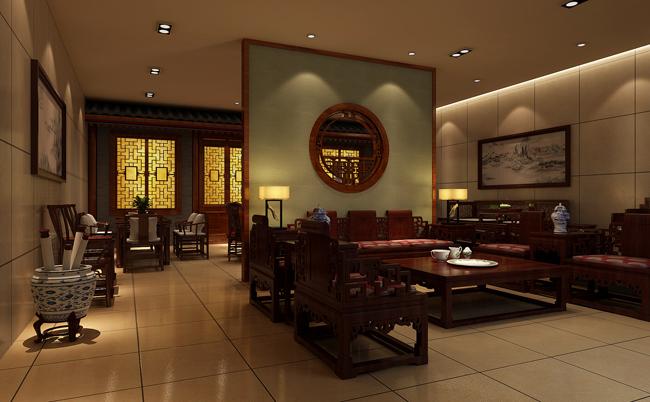 尚诚阁红木家具展厅门厅设计