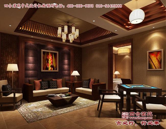 酒店中式套房客厅设计效果图