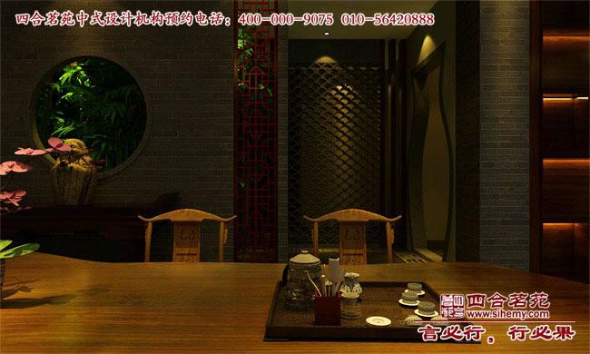 四合茗苑中式茶楼设计案例