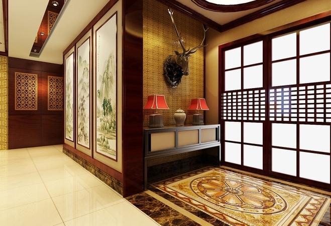 中式住宅门厅设计效果图