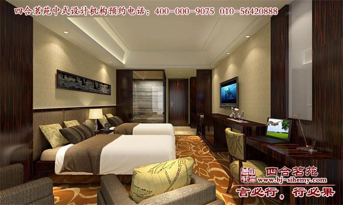 酒店客房标间设计效果图