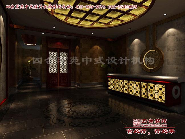 中式茶楼前台接待区效果图设计高清图片