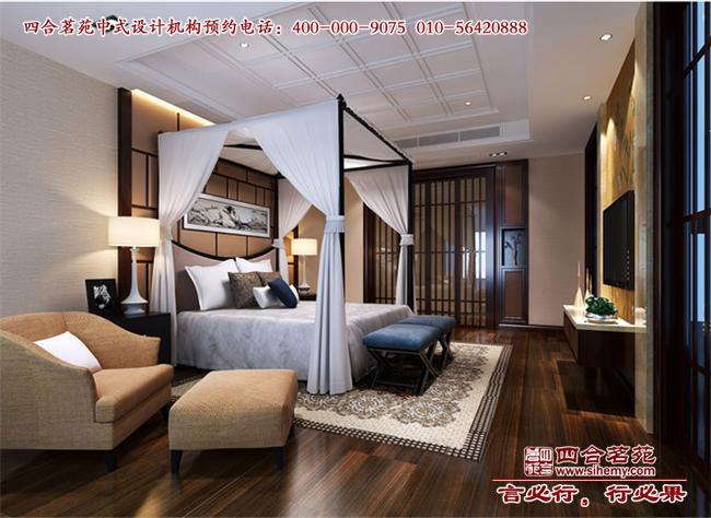 中式装修样板间卧室设计效果图