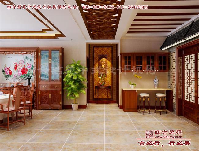 中式别墅门厅普通装修效果图