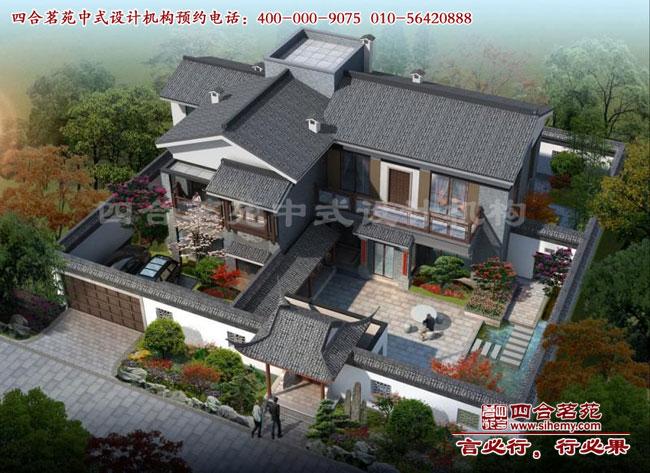 农村二层别墅设计立面图展示效果