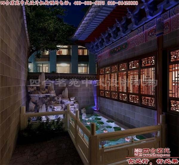 中式装修四合院别墅外观图美