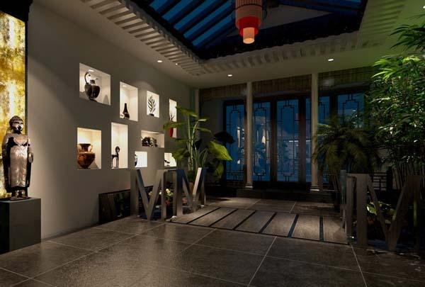 引借农村现代四合院设计图讲述典雅大气的农村-中式家装图库 四合茗