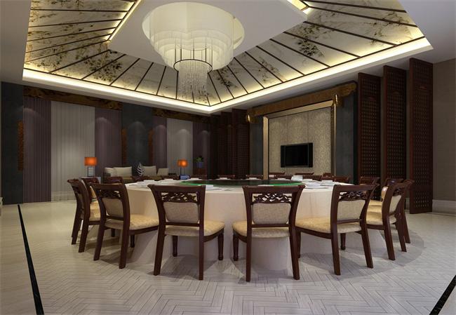 新中式餐饮酒店雅间设计效果图