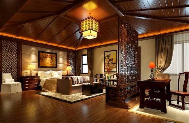 中式豪宅设计之卧室装修设计