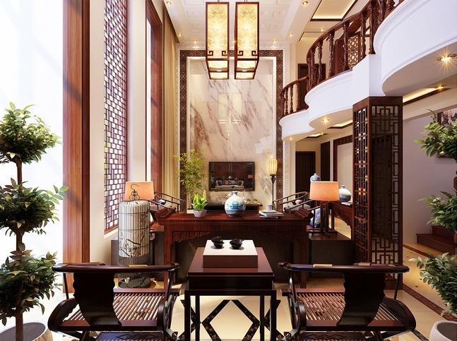 客厅中丰富的中式设计素材