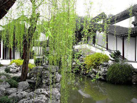 总结中式园林游廊与环境和地形有哪些关系----[四合