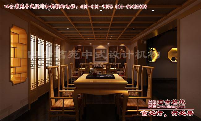 中式风格家庭茶室装修效果图