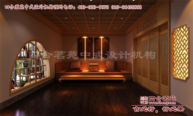 新中式简单茶楼装修效果图赏析高清图片