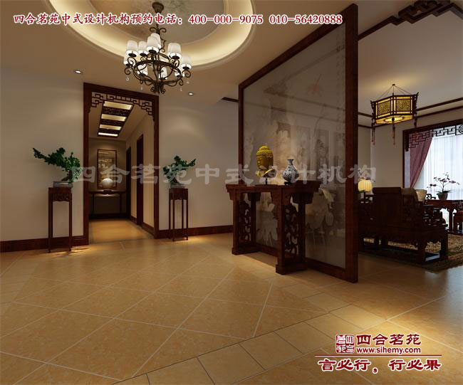中式别墅门厅隔断装修效果图赏析