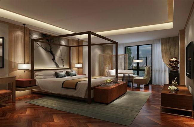 新中式簡約臥室裝修設計效果圖