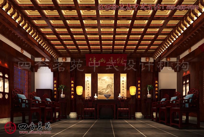 中式装修 中式设计 会所设计 古风浓郁的中式会所室内设计效果