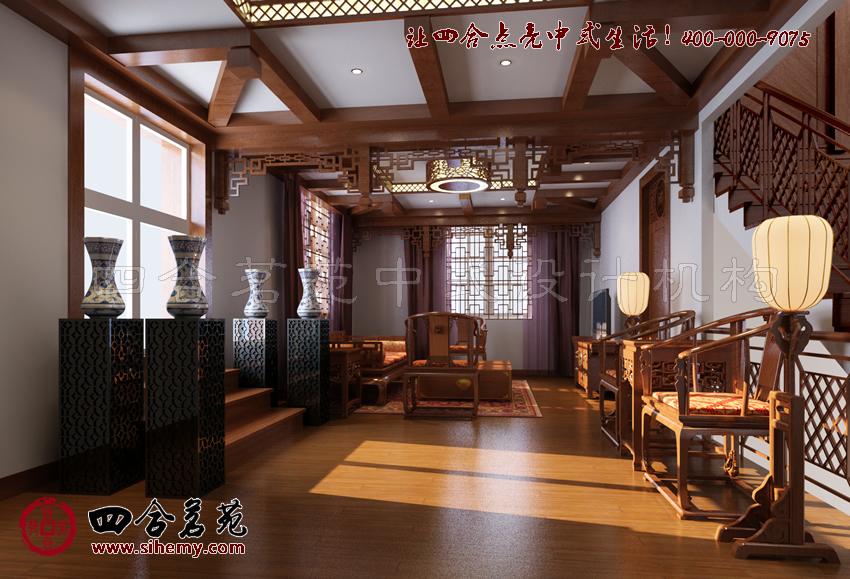 苏州古典中式别墅设计案例----[四合茗苑]