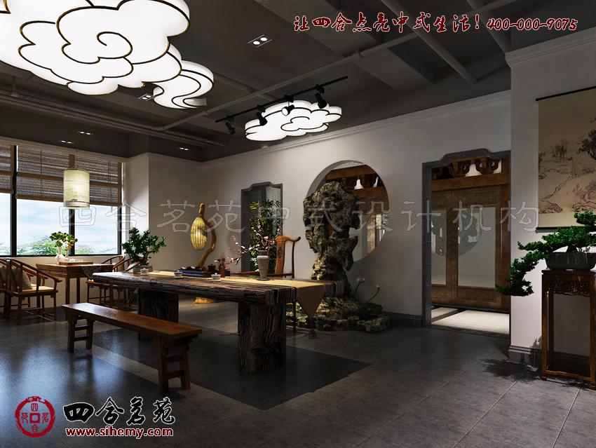 茶楼装修效果图,强调的设计之美。