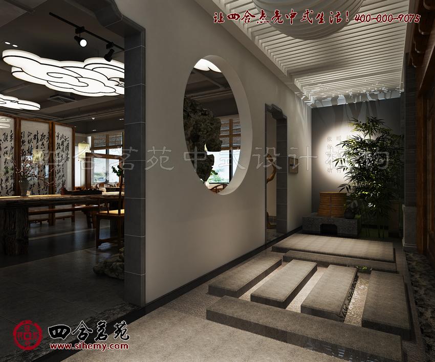 茶楼装修效果图,在设计上注重的实际作用。