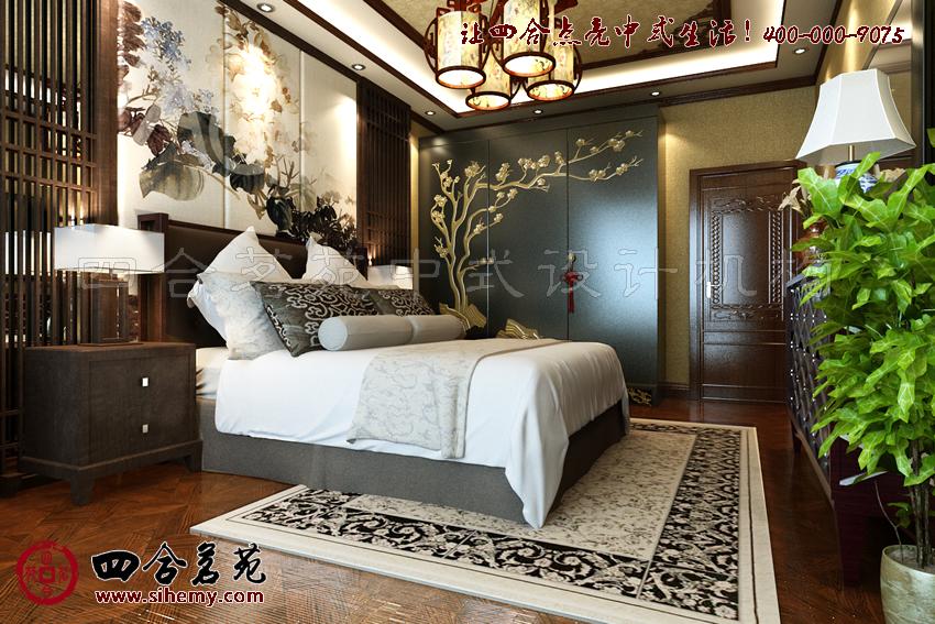 中式風格 中式裝修 別墅臥室中式設計效果圖中的中式風采