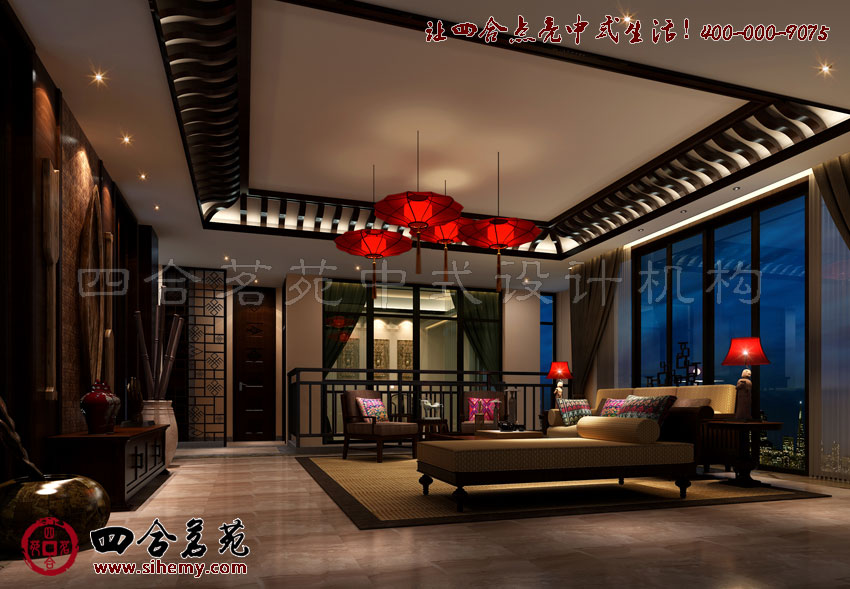 中式风格家庭别墅装修