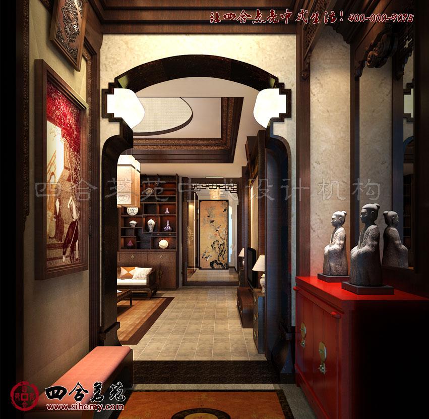 从传统中式别墅装修效果图中了解中式设计理念----[四