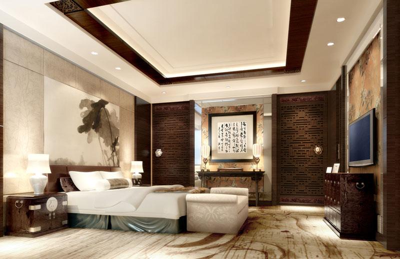 中式風格酒店設計通過酒店中式裝修的渲染提升人們在裝修合宜設計巧妙的酒店享受。從中感受倒現實中景觀物象的藝術氣息,也感受到物象內的文化內蘊,通過裝修中文字的運用跳出裝修設計的范疇以文字的形式在建筑式的基礎上進行物象點染、藻繪升華。