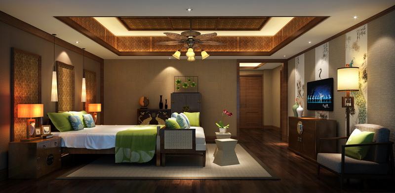 风格的特殊魅力在于氛围营造 即便是新中式风格,也给顾客带来最直观的视觉享受,设计师结合四合茗苑的中式设计技巧,在餐厅中融入花格、摆件、铜艺、壁画,将不同色彩结合到一起,给顾客带来非常震撼的感官盛宴。  酒店小会议室的设计提供优雅之感 色彩与灯饰的搭配,新中式设计理念运用与空间中,这就让我们看到了此景巧夺天工的中式酒店会议厅设计。其庄重典雅的设计效果,得到了很多莅临贵宾的高度评价。  合理的运用了床品提升设计品质 为了能够给客户提供一个全面、周到的休息空间,设计师特别将整个客房的布局进行了重新规划,部分的