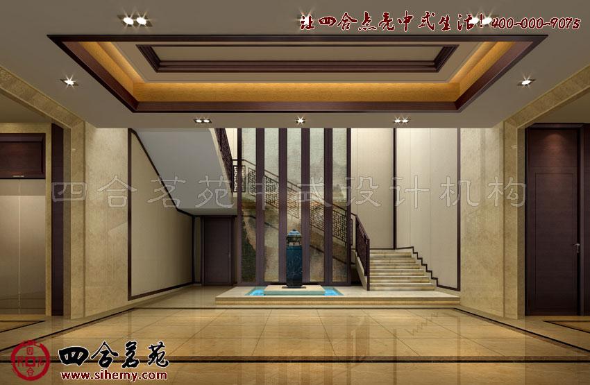 现代中式风格别墅室内设计的光影效果----[四合茗苑]