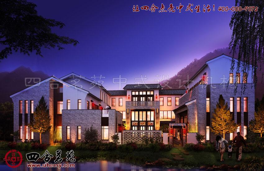 自然景观的衬托对于中式别墅设计外观设计的效果