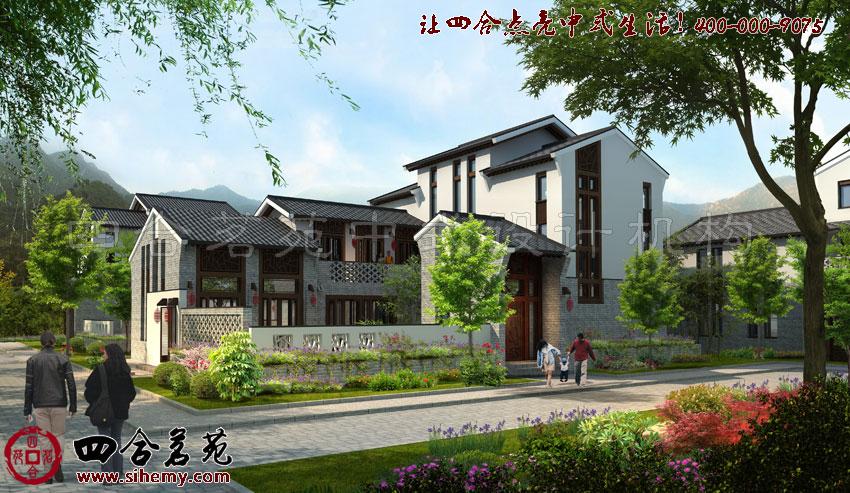 中式别墅设计外景图,力求打造出最好的效果。