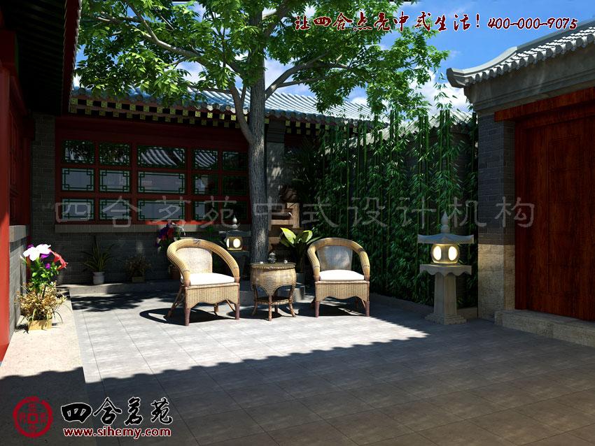 中式庭院设计效果图,注重的是品质与质量。