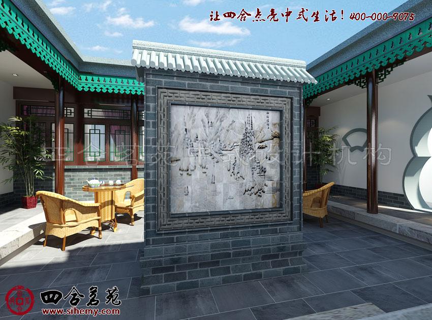 中式庭院设计效果图,完美的设计在于细节。