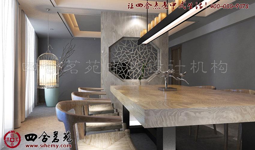 古典拙绝 新中式茶楼设计----[四合茗苑](图文)