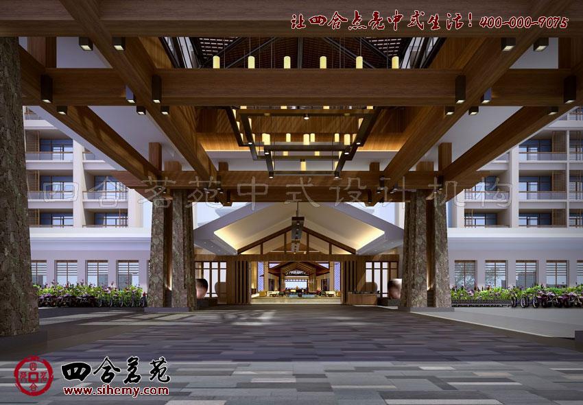 中式酒店設計----[四合茗苑](圖文)