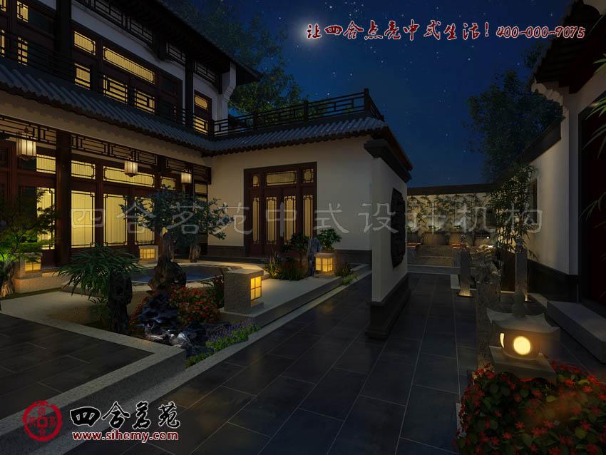 新中式风格设计效果图雪白之美 吉林白桦林家温泉新中式风格设计效果图片