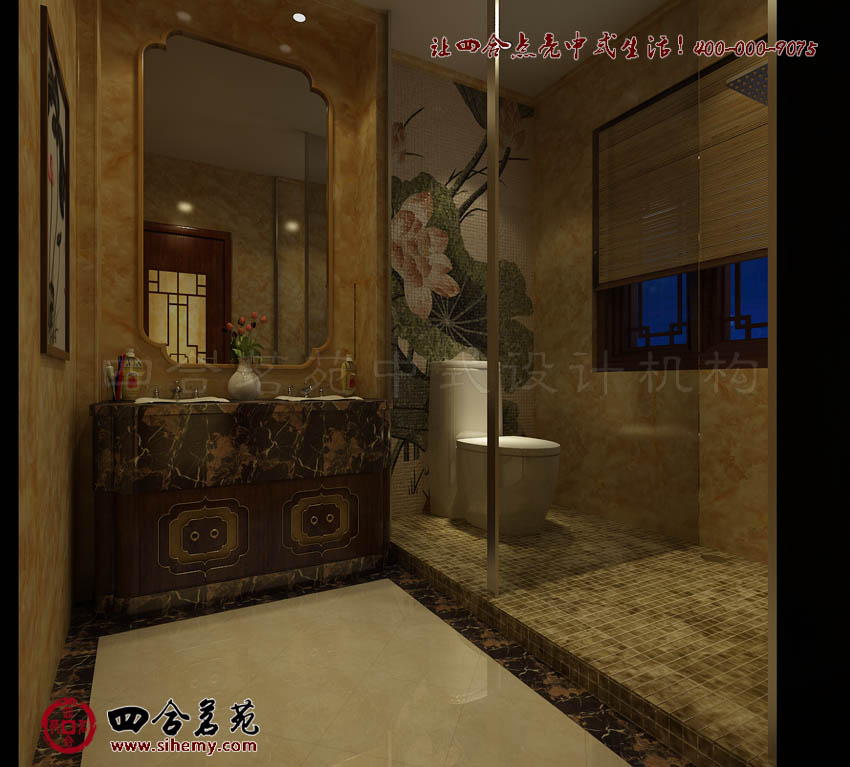 新中式风格样板间设计淡雅古韵 新中式风格样板间设计效果图