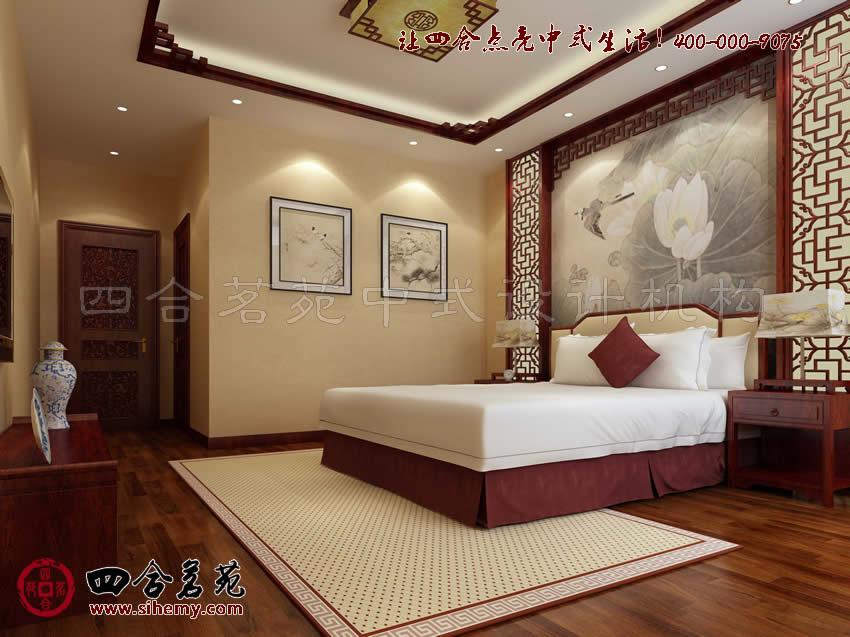 新中式别墅设计图欣赏装饰魅力----[四合茗