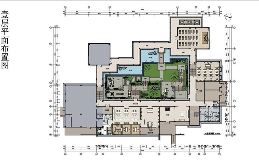 四合茗苑中式设计效果图