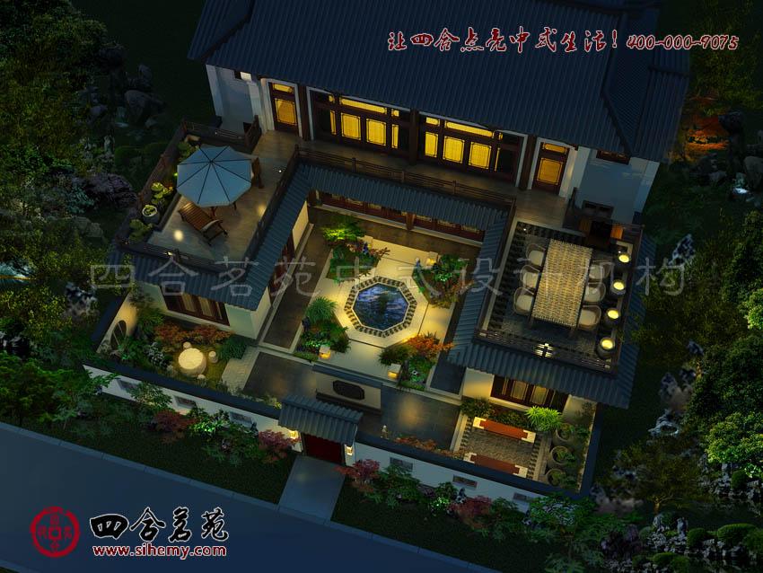 中式乡村别墅设计朴素淡雅 中式乡村别墅设计庭院中的装饰元素运用与