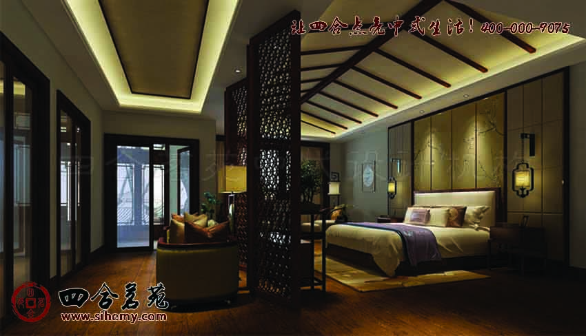 中式酒店设计效果图