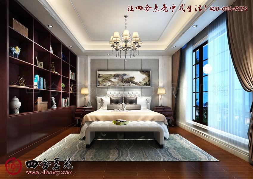 端庄清雅的新中式别墅设计[四合茗苑](图文)