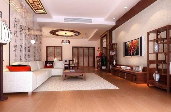 正当锦瑟年华--现代中式客厅装修----[四合茗苑]----(图文)