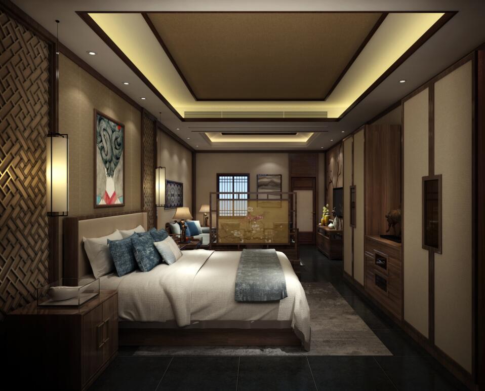 中式高端私人会所装修,展现出设计之美。