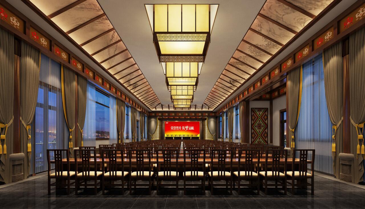 中式风格休闲会所设计,注重的是以人为本。